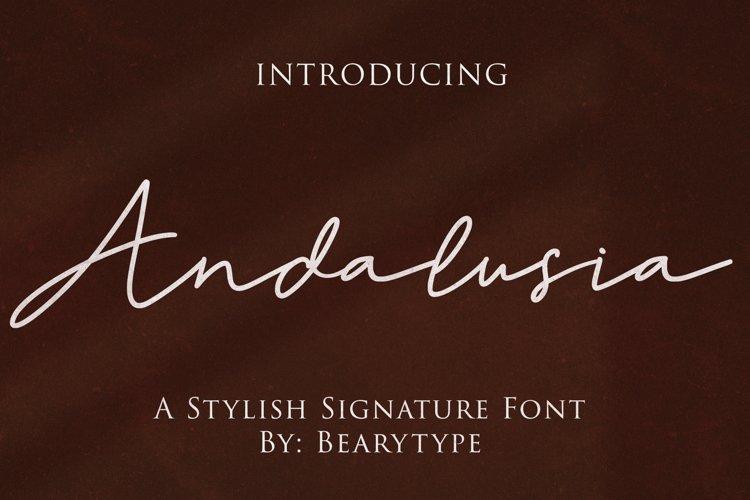 Andalusia -signature font