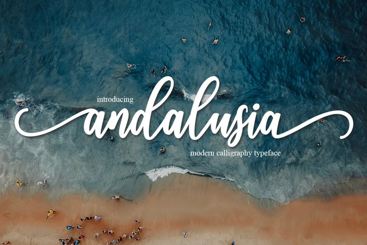 andalusia Script |WEB FONT example image 1
