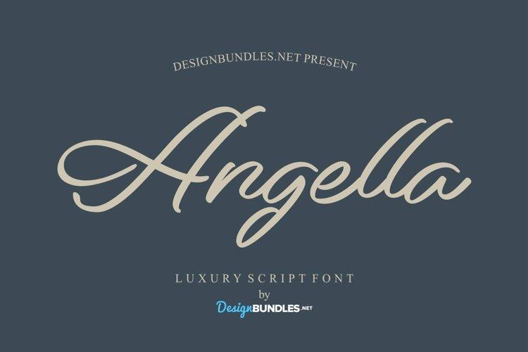 Web Font Angella Font example image 1