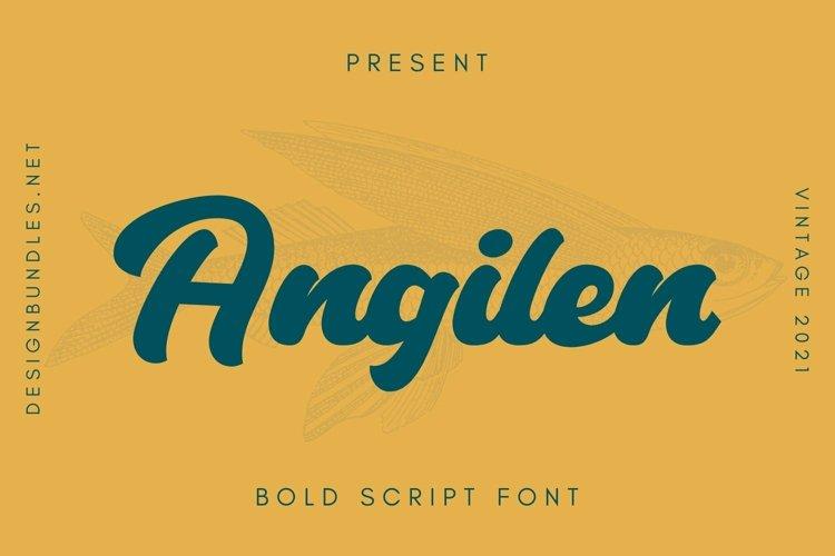 Web Font Angilen Font example image 1