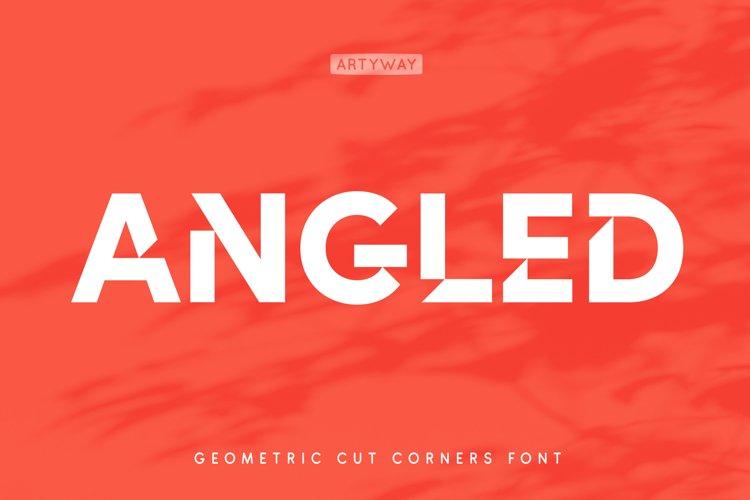Cut Angles Font