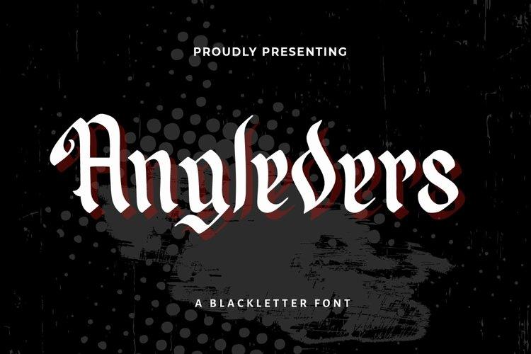 Web Font Angleders - Blackletter Font example image 1