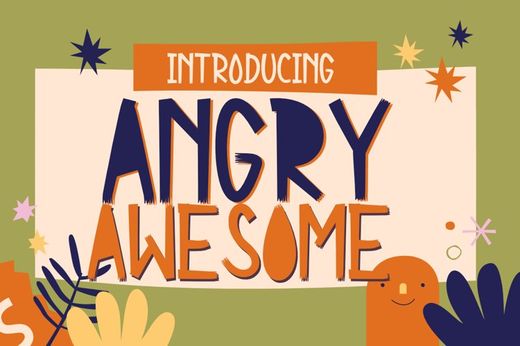 Angry Awesome Cutout font