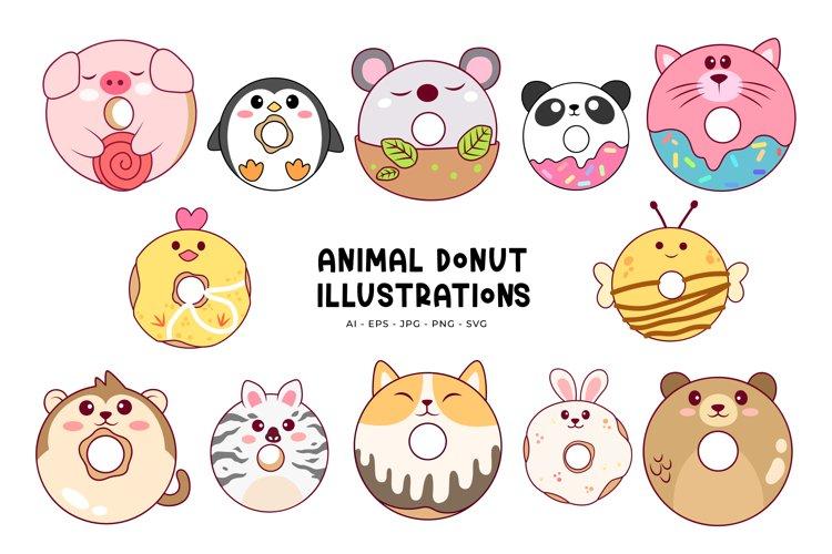 Animal Donut Illustrations