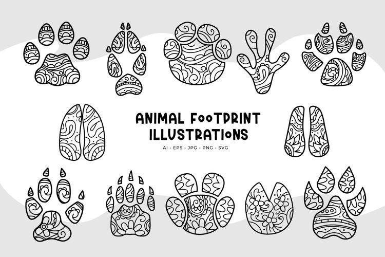 Animal Footprint Illustrations
