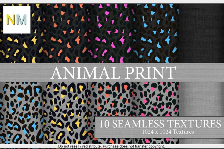 Animal Print 10 Seamless Fabric Textures with Solid Match