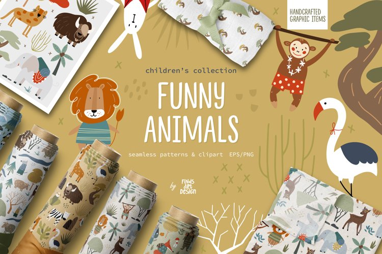 Funny animals, Animals pattern, Baby clipart