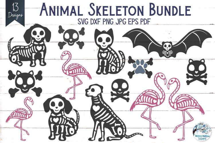 Animal Skeleton SVG Bundle   Halloween SVGs example image 1