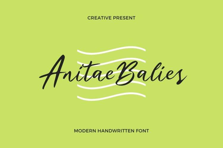 Web Font Anitae Balies Font example image 1