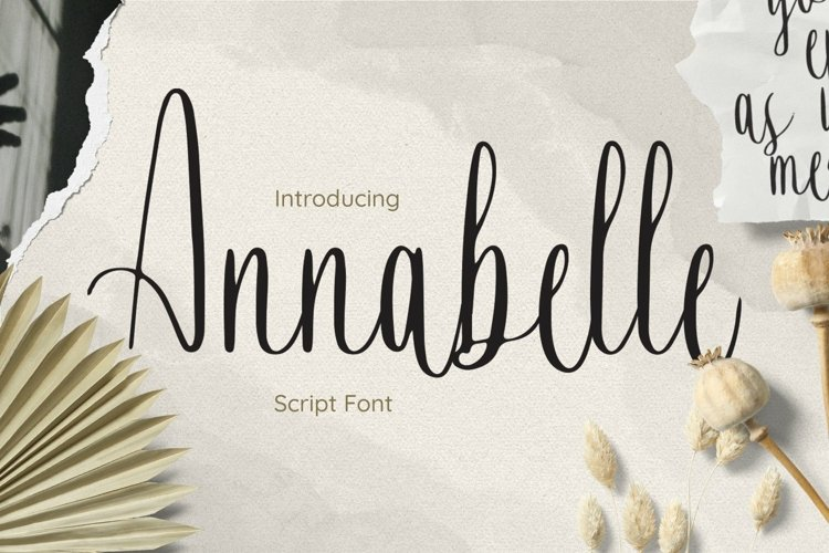 Web Font Annabelle Font example image 1