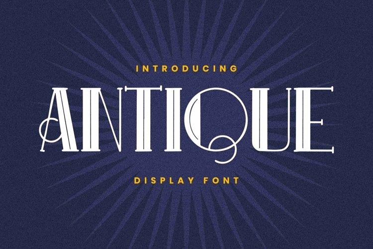 Web Font ANTIQUE Font example image 1