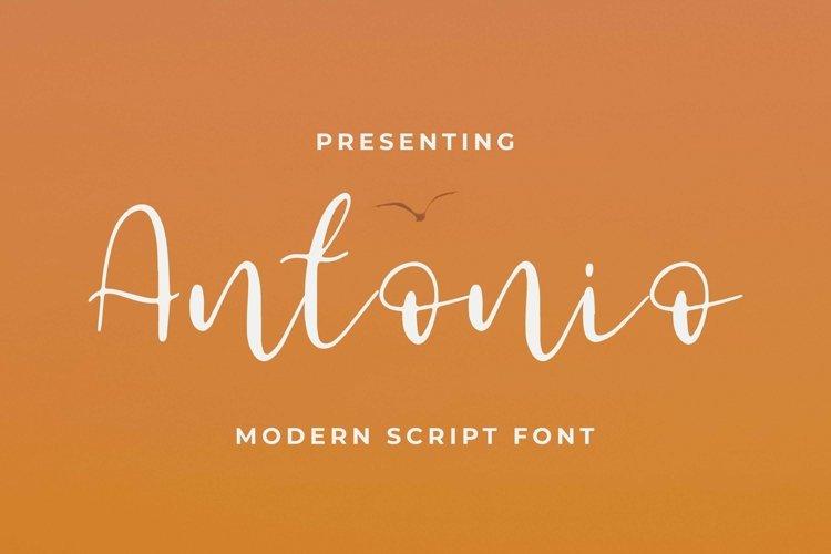 Web Font Antonio example image 1