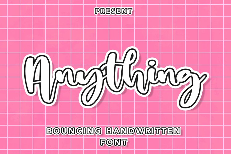 Anything - Bouncing Handwritten Font example image 1