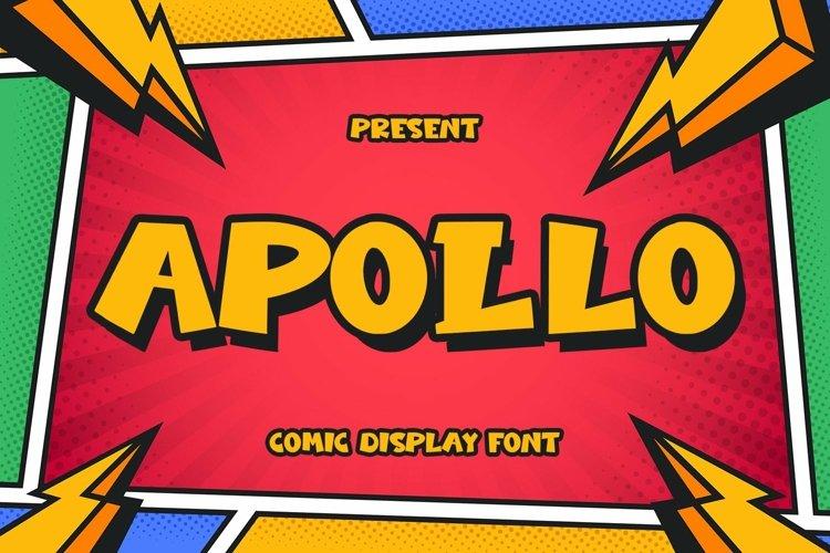 Web Font Apollo - Comic Display Font example image 1