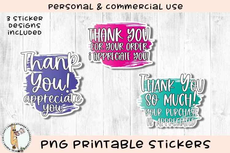 Thank You Appreciate You Small Business Printable Stickers