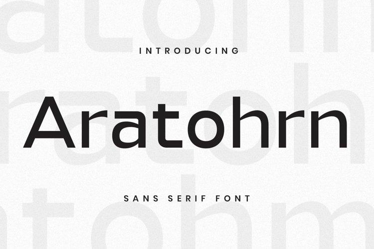 Web Font Aratohrn Font