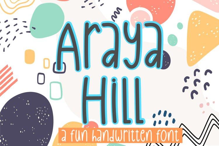 Araya Hill example image 1