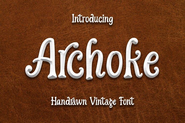 Archoke - Handrawn Vintage Font example image 1