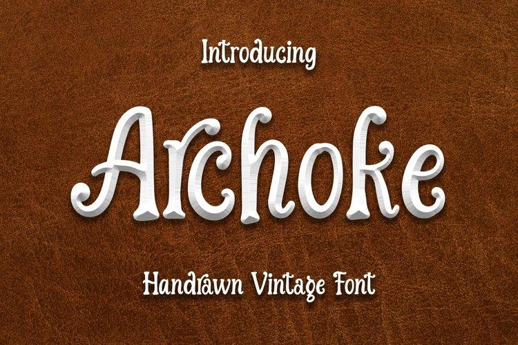 Web Font Archoke - Handrawn Vintage Font example image 1