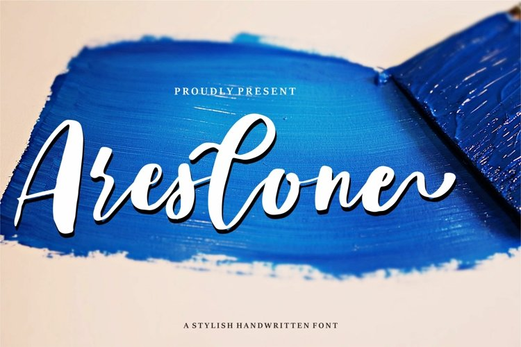 Areslone - A Stylish Handwritten Font example image 1