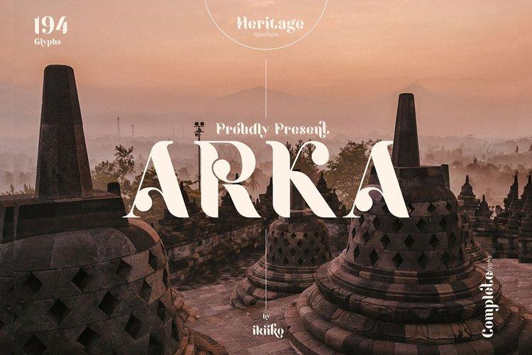 ARKA Heritage Typeface example image 1