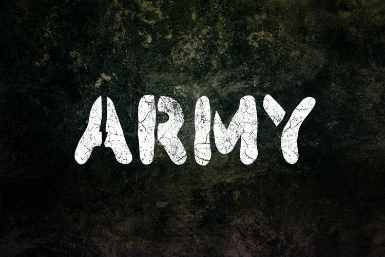 Army Stencil Font