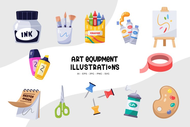 Art Equipment Illustrations