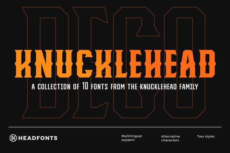 Knucklehead Deco   Vintage Font example image 1