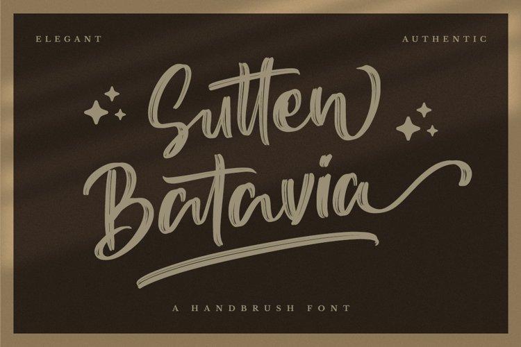 Sutten Batavia - Brush Font example image 1
