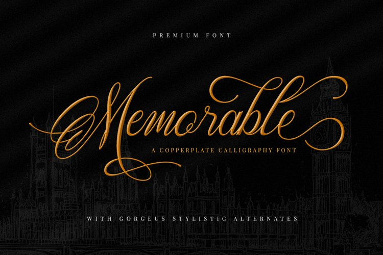 Memorable - Romantic Calligraphy Font example image 1