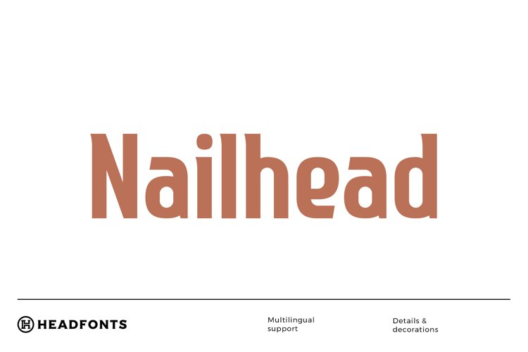 Nailhead Modern Font example image 1