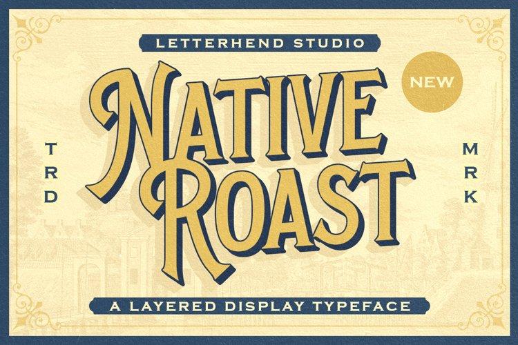 Native Roast - Layered Display Font example image 1