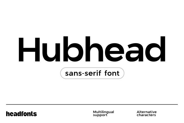 Hubhead Ggeometric Sans-Serif Font example image 1