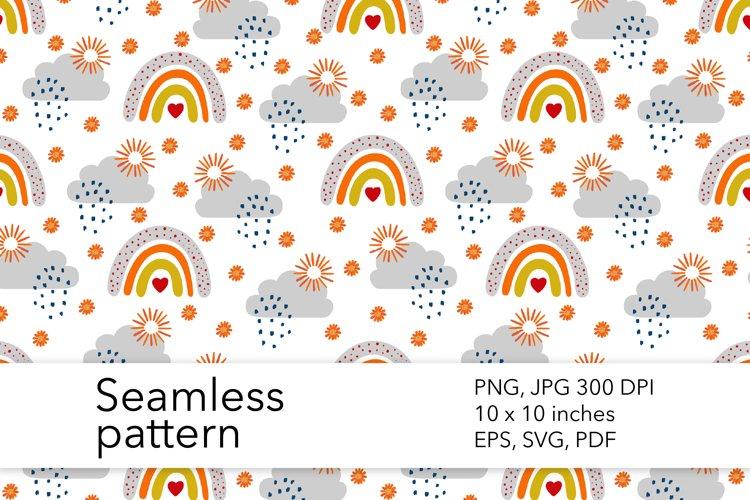 Fall Rainbow Seamless Pattern - Autumn Pattern Design example image 1