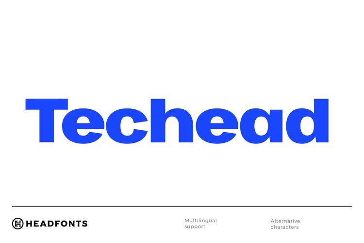 Techead sans serif font family example image 1