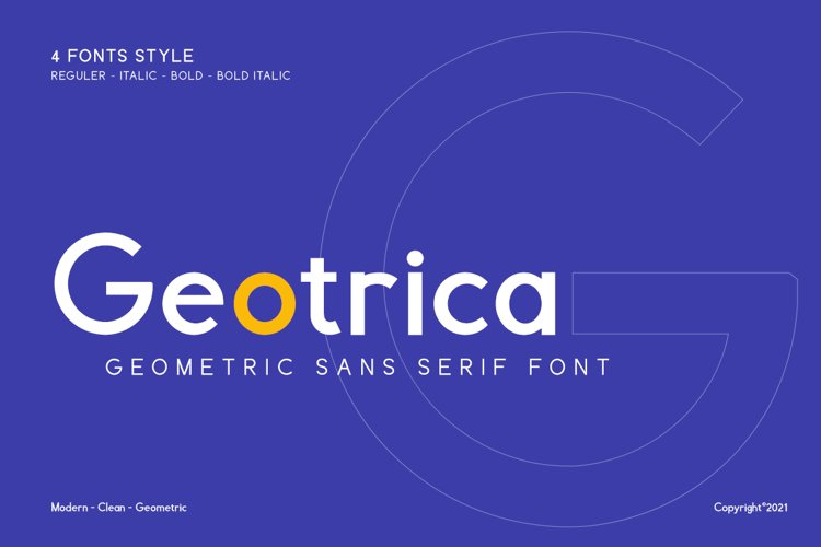 Geotrica Family Font example image 1
