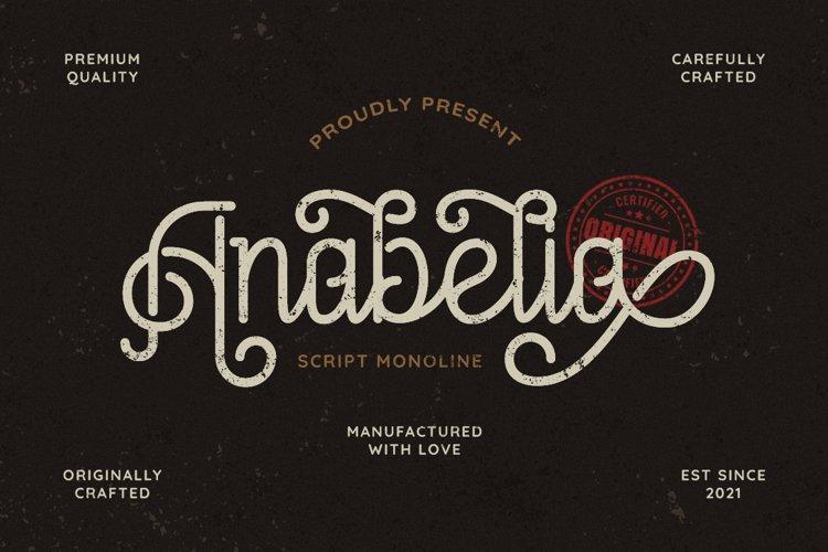 Anabelia - Vintage Monoline example image 1
