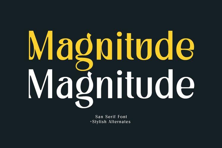 Magnitude - Stylish Sans Serif example image 1