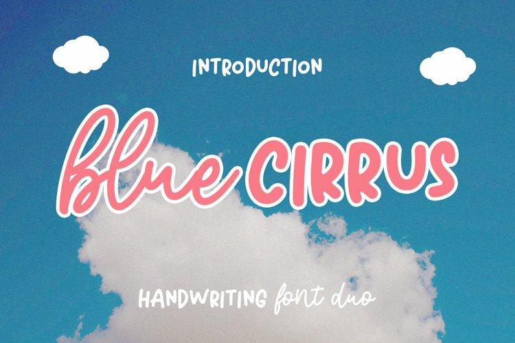Blue Cirrus Script example image 1