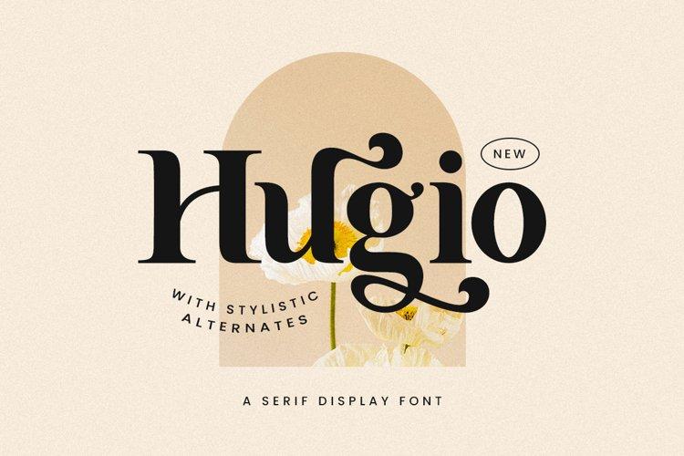 Hugio - Display Font example image 1