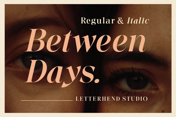 Between Days - Sophisticated Serif example image 1