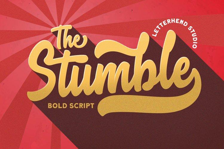 The Stumble - Retro Bold Script example image 1