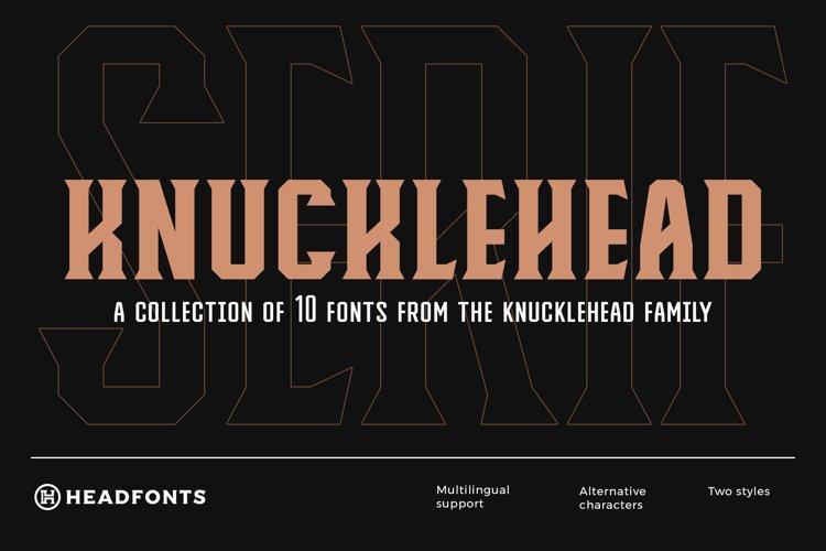 Knucklehead Serif | Vintage Font example image 1
