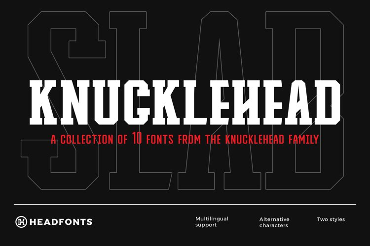 Knucklehead Deco   Sport Font example image 1