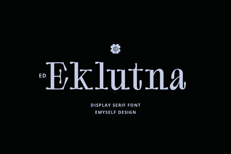 ED Eklutna Display Serif example image 1