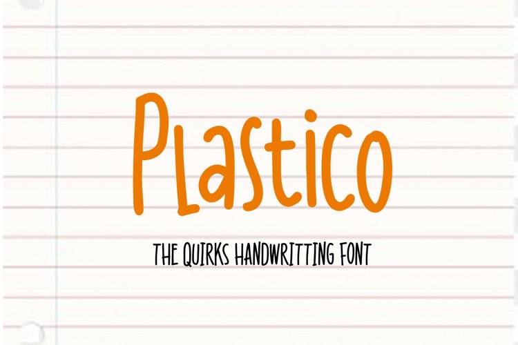 Plastico - Quirky Font example image 1