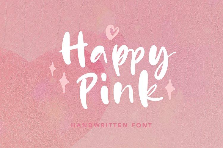 Happy Pink - Handwritten Font example image 1