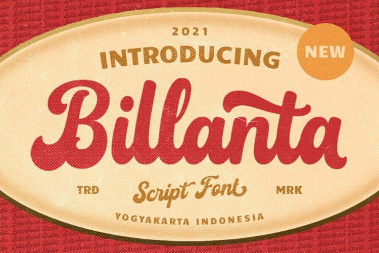 Billanta - Vintage Bold Script example image 1