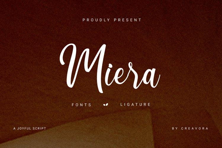 Miera - Joyful Script Font example image 1