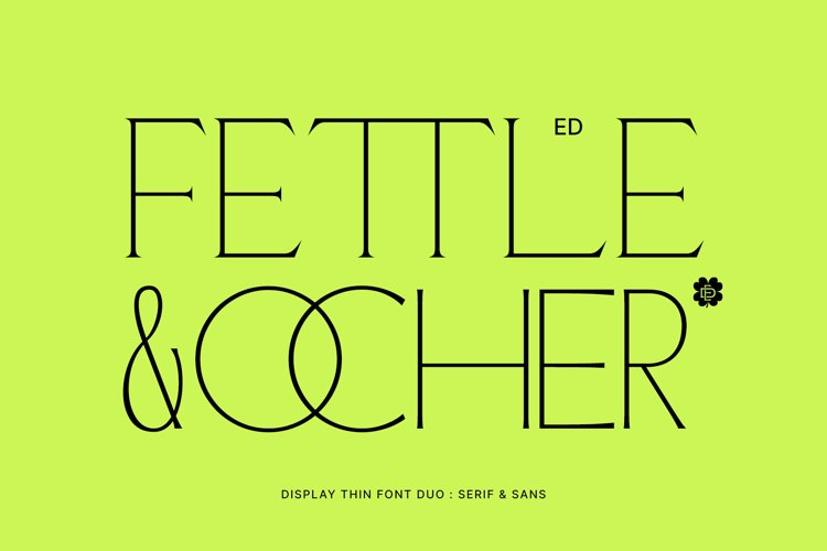 ED Fettle & Ocher display example image 1